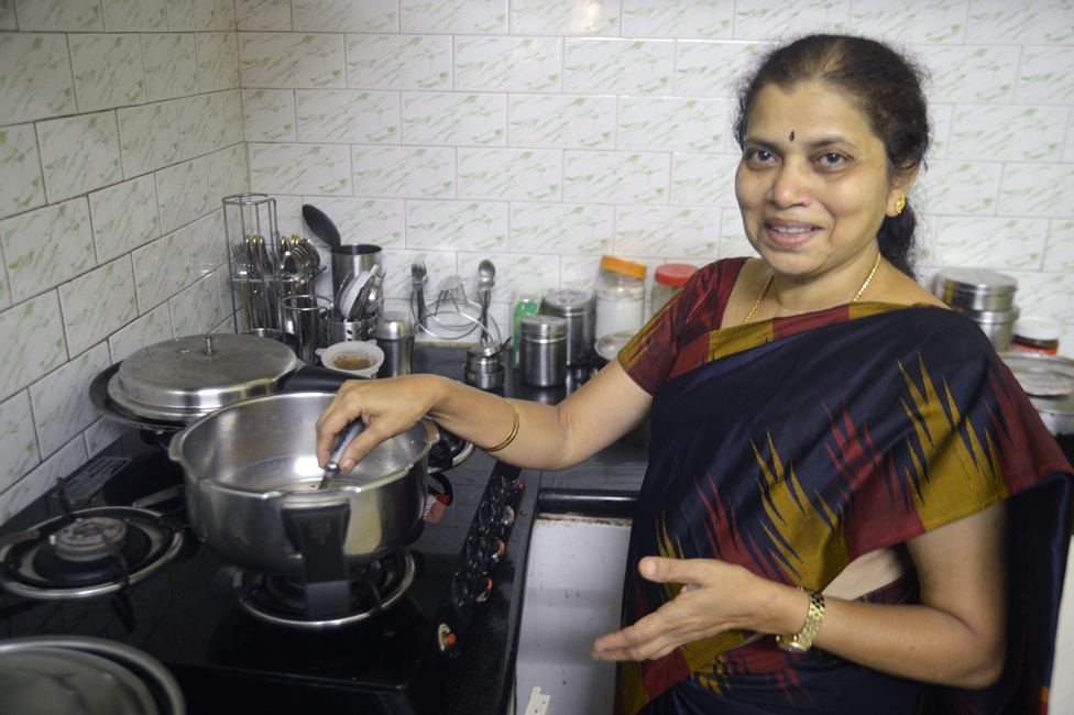 BP Dakshayani in the kitchen