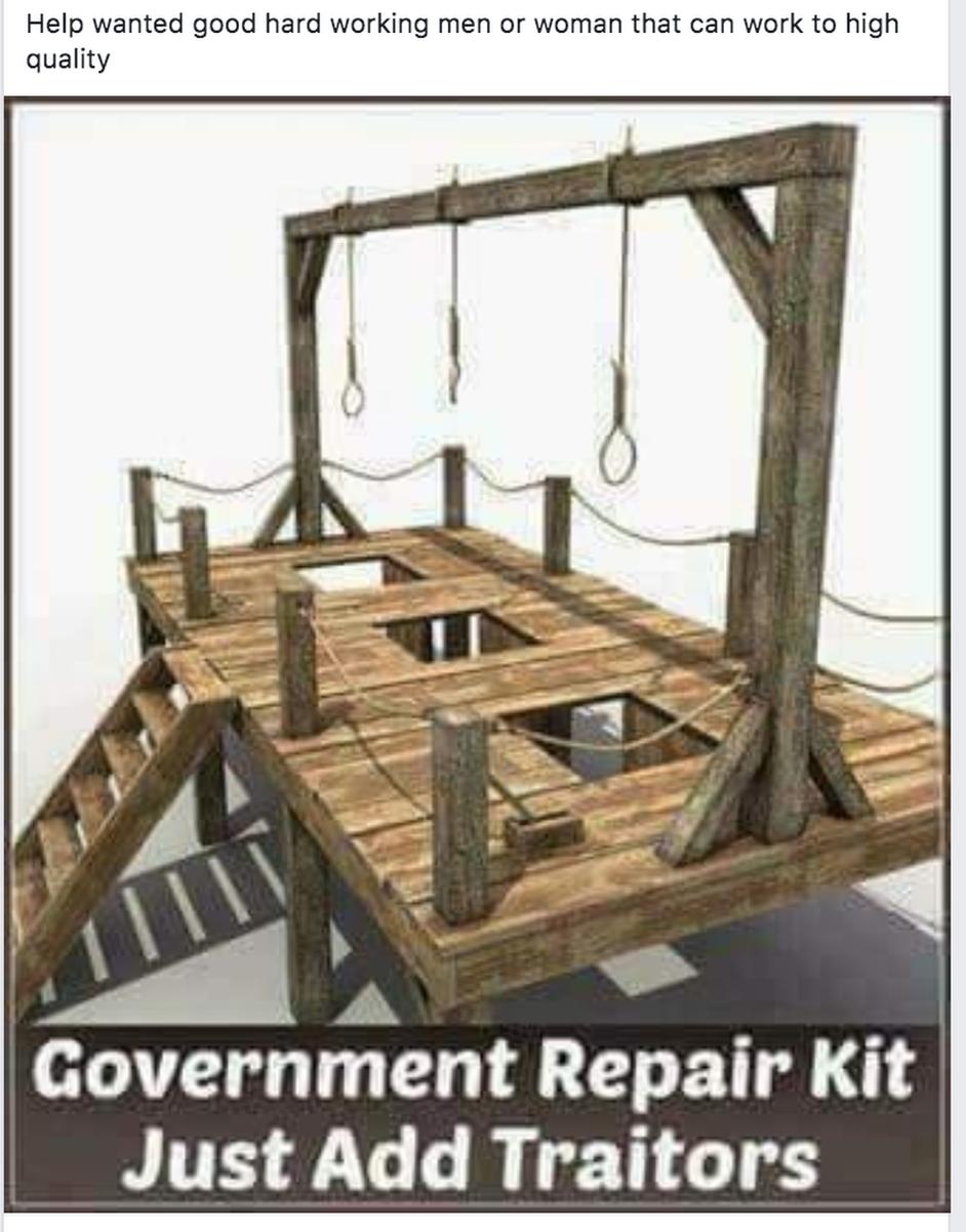Government repair kit - just add traitors