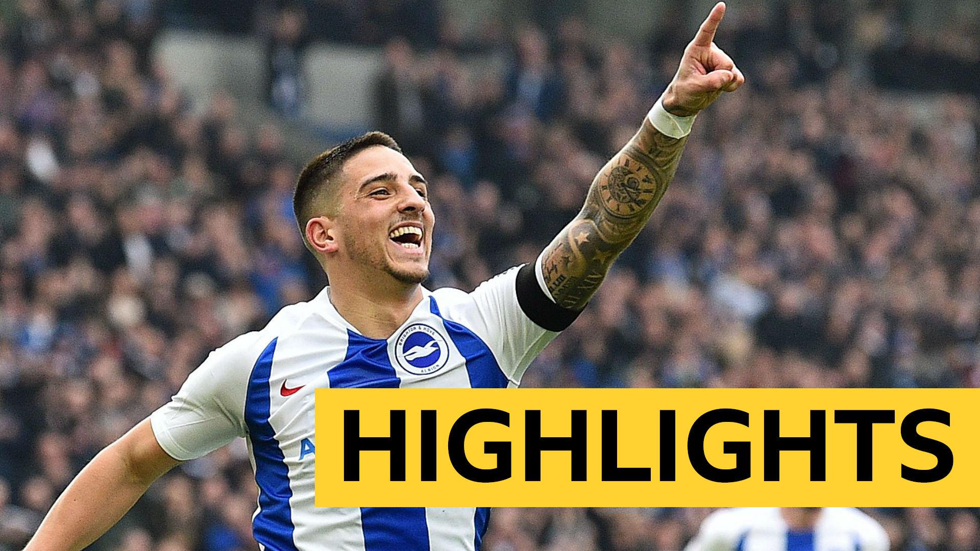 FA Cup: Brighton 2-1 Derby highlights