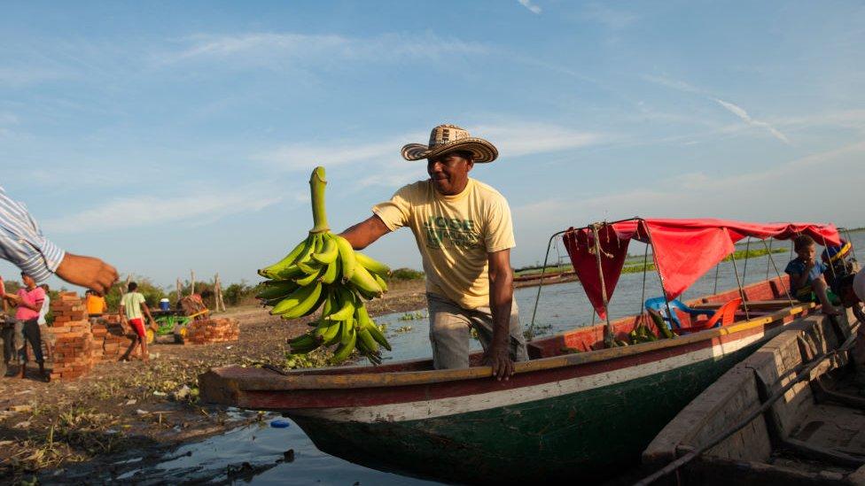 Bananero en barco