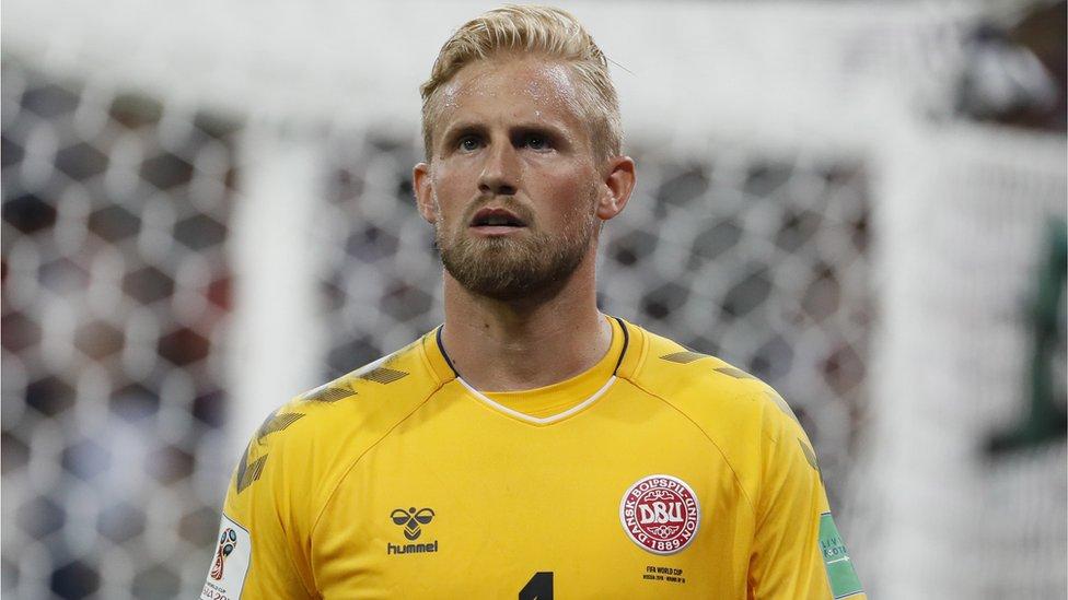 تصدى حارس مرمى المنتخب الدنماركي كاسبر شمايكل لضربة جزاء سددها اللاعب الكرواتي لوكا مودريتش في الدقيقة 114