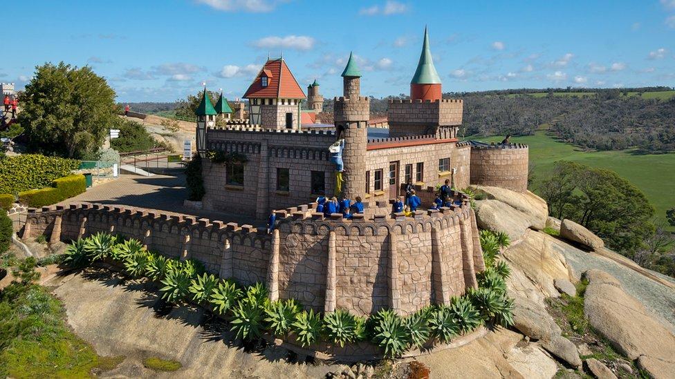The immigrants who built Australia's 'fairytale' castles