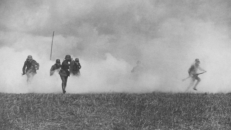 Soldados alemanes durante la Primera Guerra Mundial