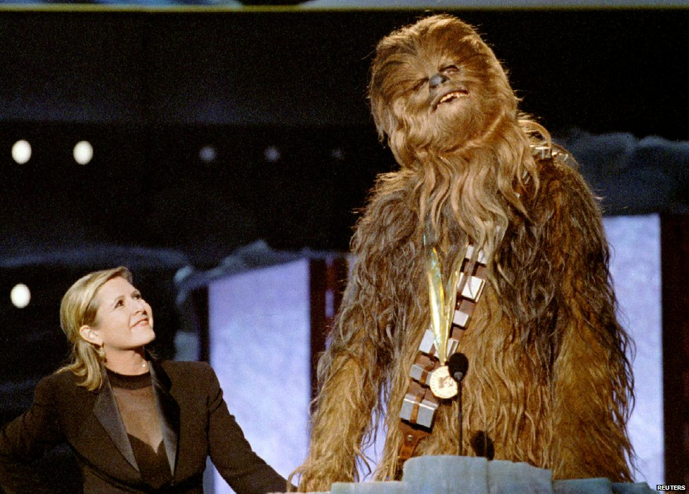 Chewbacca with Carrie Fisher
