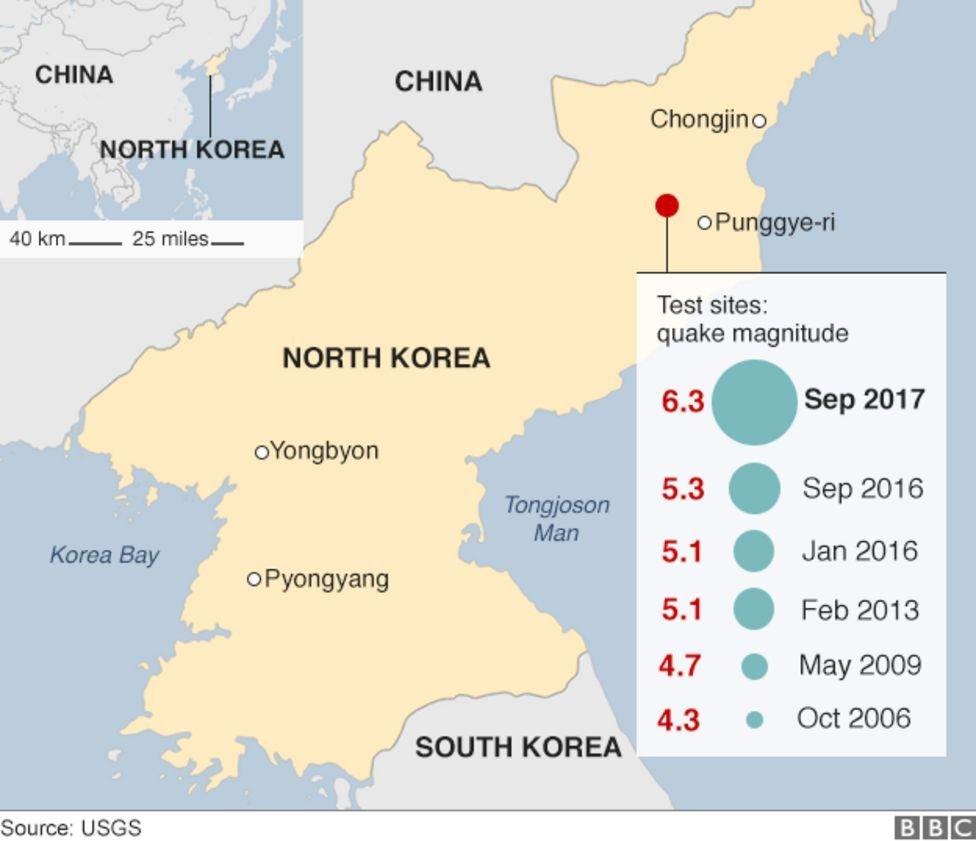 Situs uji coba senjata militer Korea Utara di Punggye-ri
