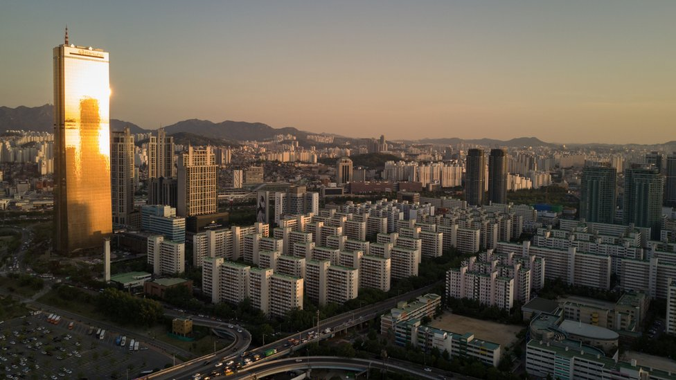 El distrito financiero de Seúl