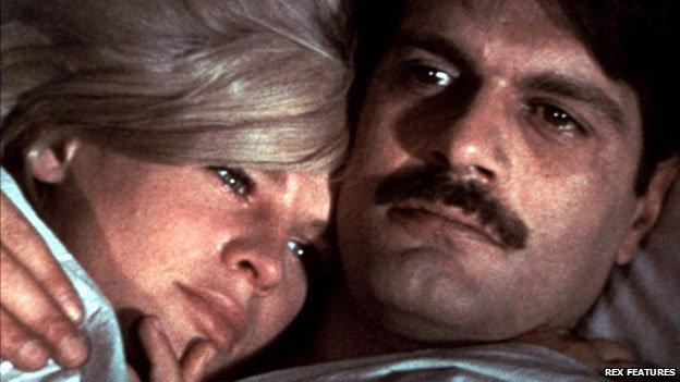 Omar Sharif with Julie Christie in Doctor Zhivago