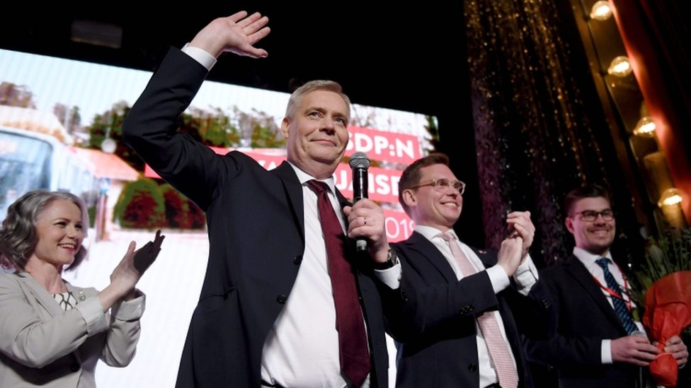 Antti Rinne, 14 abril 2019