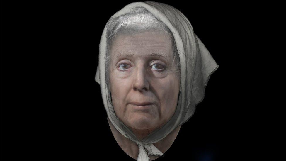 Una reconstrucción del rostro de Lilias Adie