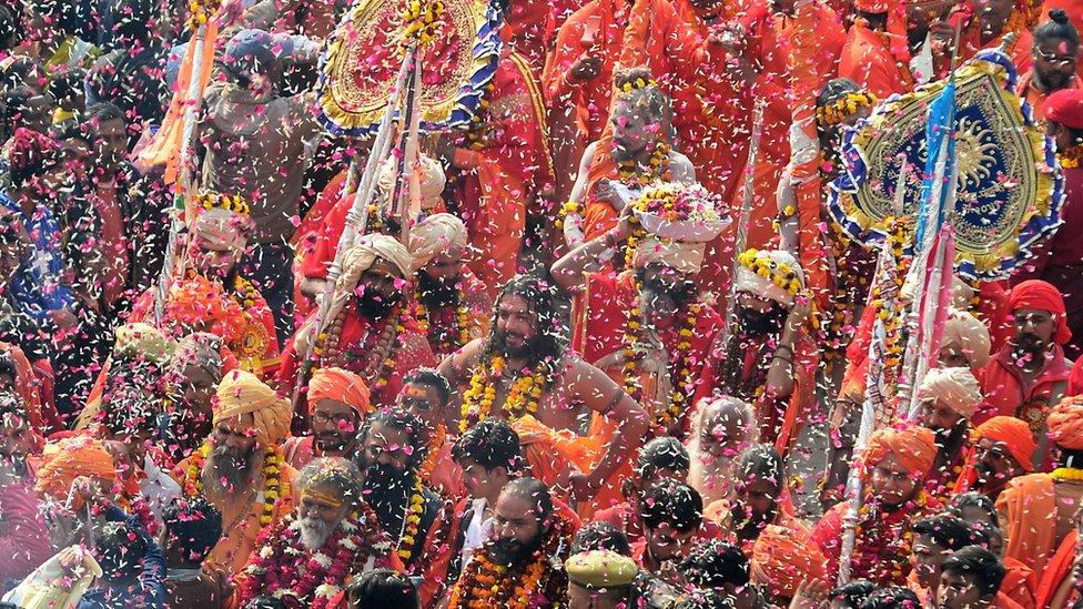 Kumbh Mela festival 2019.