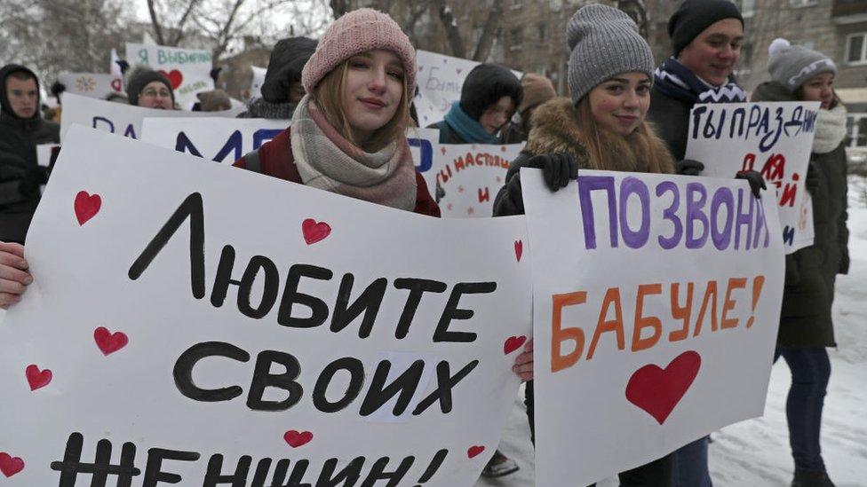 Jóvenes en Rusia