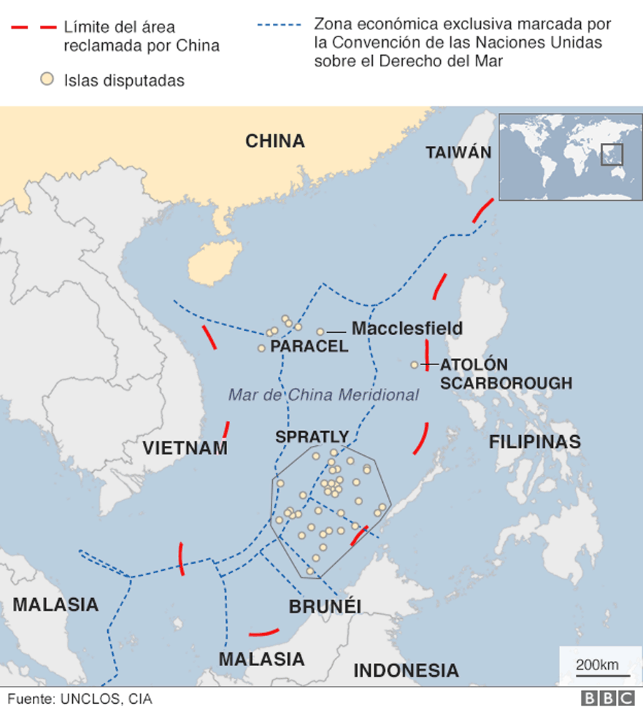Conflicto del Mar de China Meridional.