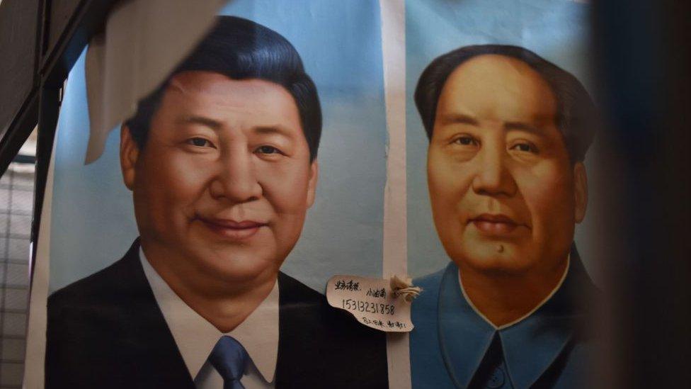 毛澤東和習近平的照片