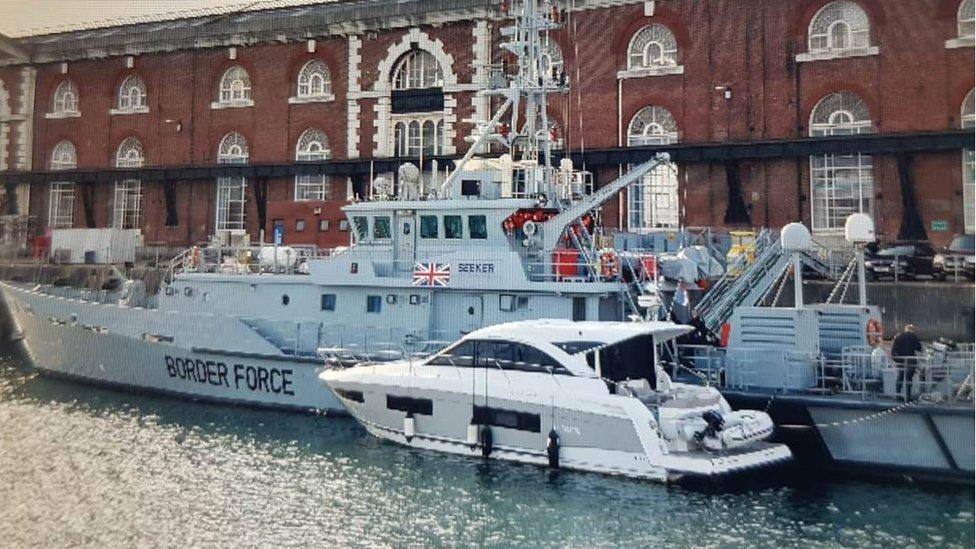 Seized motor cruiser in Portsmouth