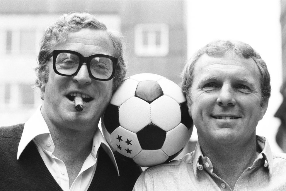 Michael Caine and Bobby Moore