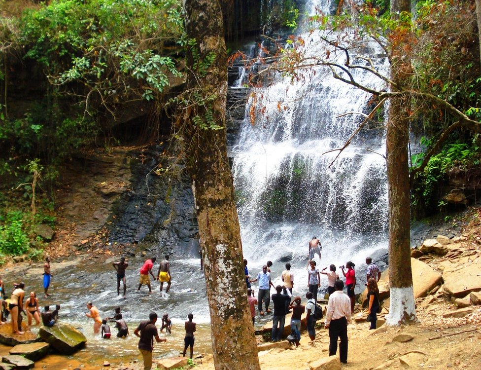 Kintampo waterfall, pictured in 2010