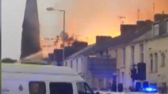 Fire in Llanelli