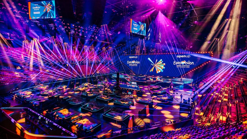 The Eurovision stage