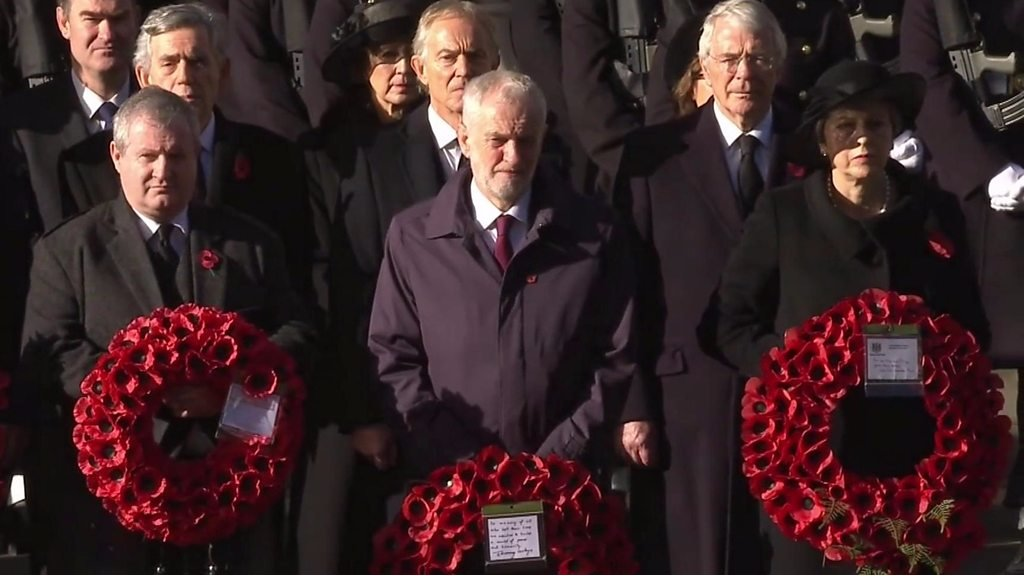 Armistice Day: Silence at the Cenotaph and tributes on beaches