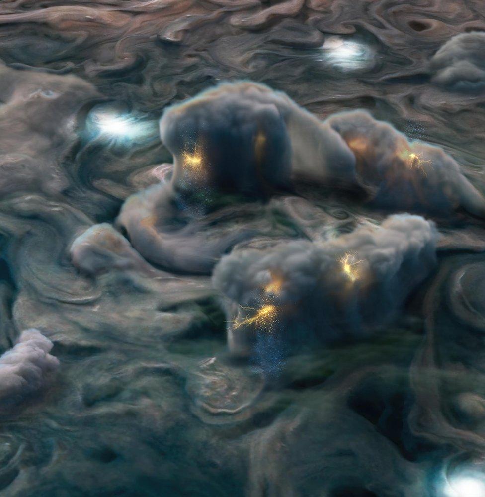 Artwork of Jupiter's clouds