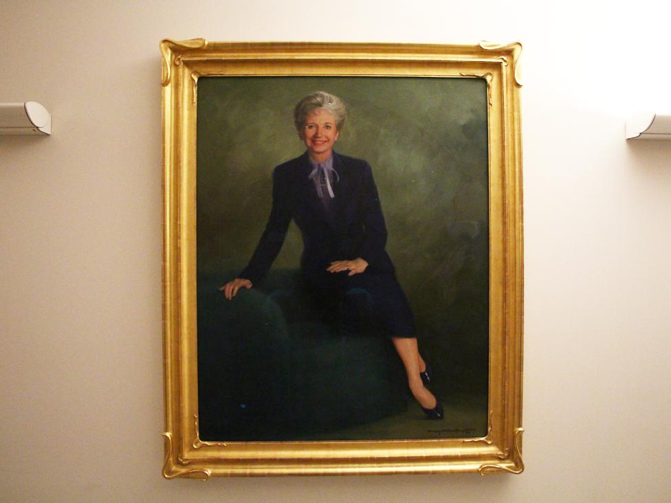 Pintura de Mary Maxwell en la Universidad de Washington.