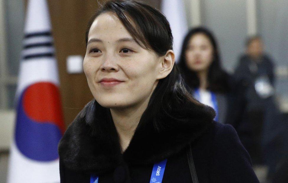 Kim Yo-jong, hermana del líder de Corea del Norte, Kim Jong-un, 9 de febrero de 2018 en Pyeongchang-gun, Corea del Sur
