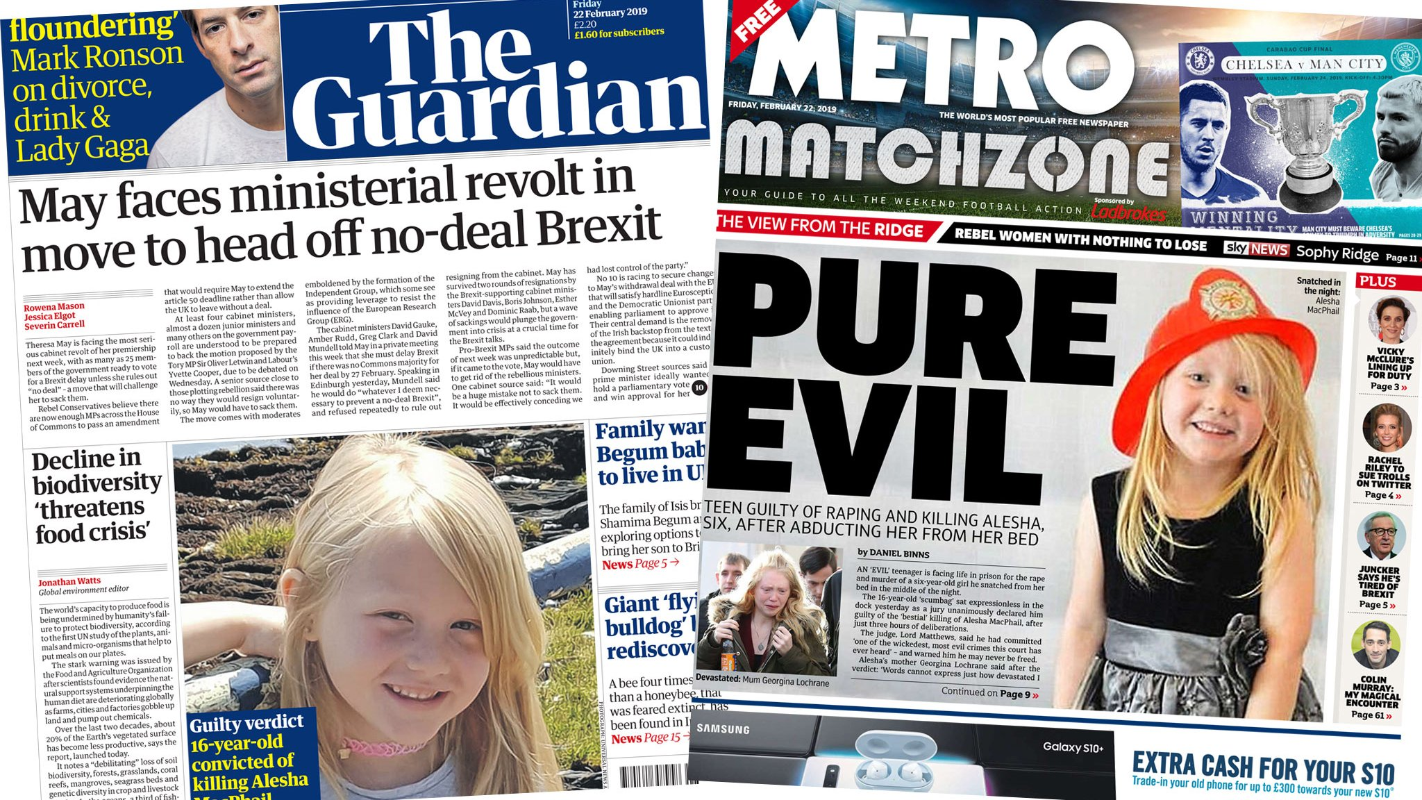 The Papers: Another Brexit revolt, and 'pure evil' teen