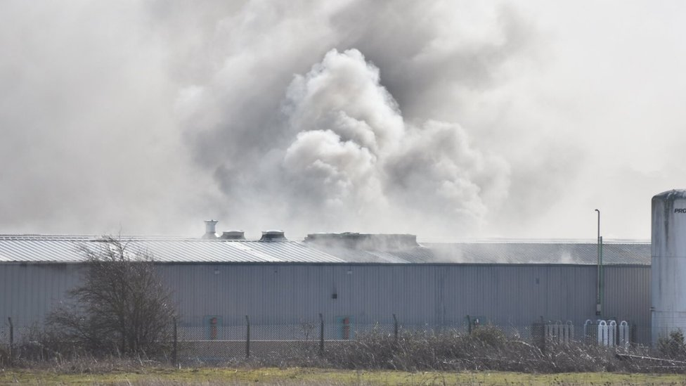Grantham recycling centre fire: Warning over toxic fumes