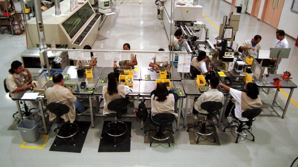 Trabajadores mexicanos en Ciudad Juárez