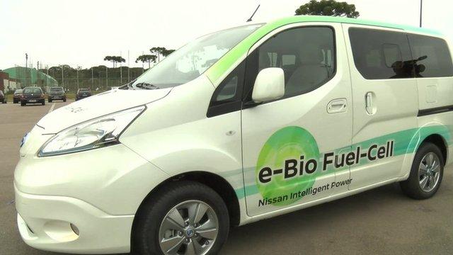 Nissan e-bio fuel cell vehicle
