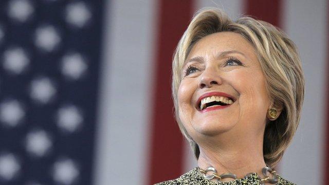 U.S. Democratic presidential candidate Hillary Clinton