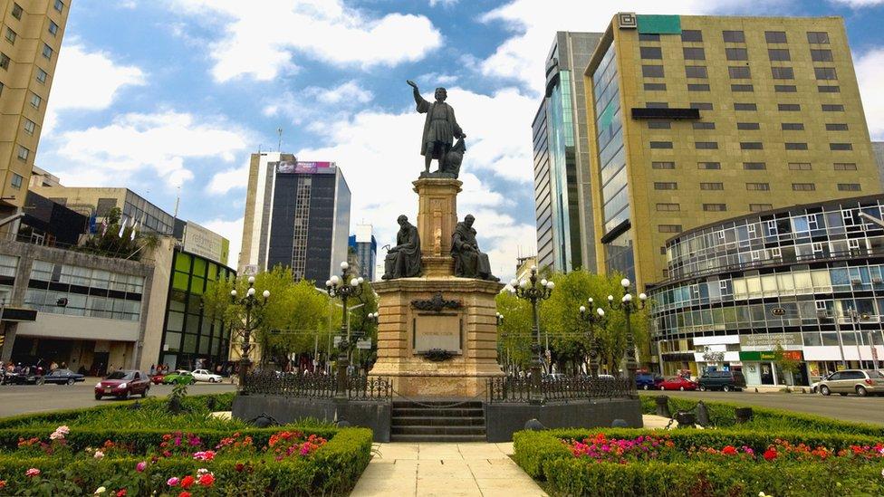 El monumento a Cristóbal Colón en la Ciudad de México