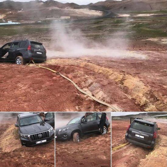 La policía de Islandia reportó el accidente en Facebook