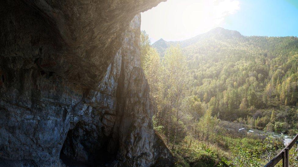 Cueva de Denisova, en el sur de Siberia.