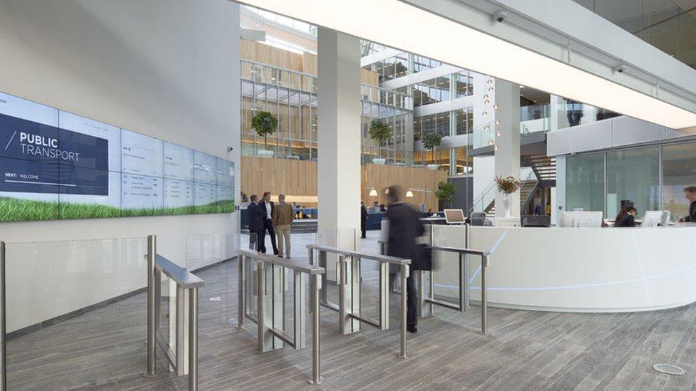 The lobby of The Edge