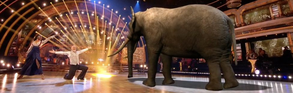 Bill Bailey, Oti Mabuse and a CGI elephant