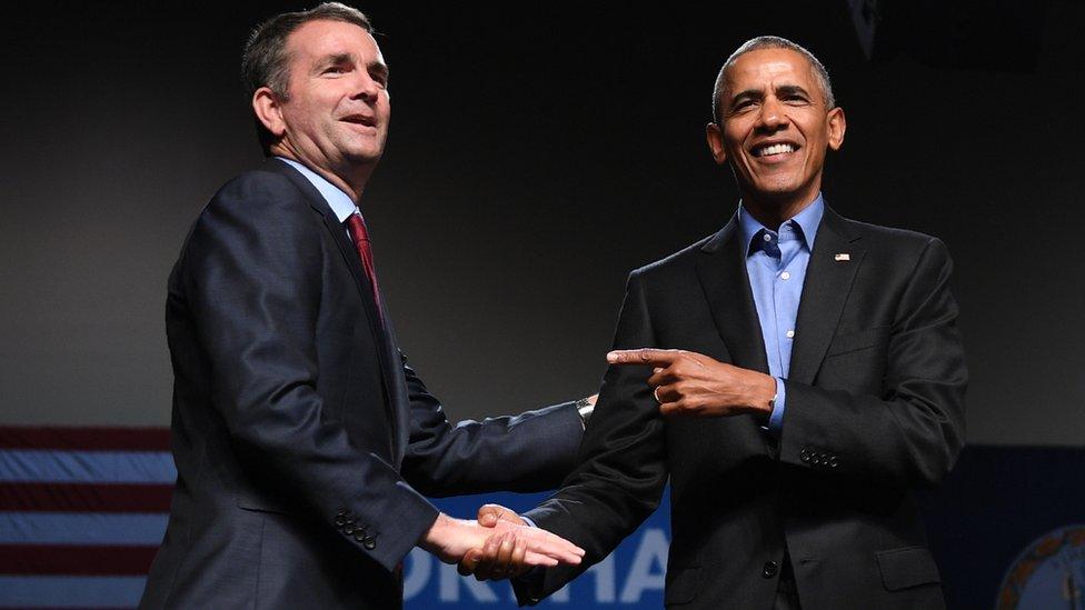 Obama y Northam.
