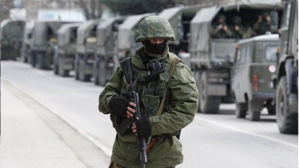 """許多人擔心俄羅斯會像2014年兼併克里米亞那樣派遣""""小綠人""""(特種部隊)幫助白俄羅斯解決內部動蕩"""
