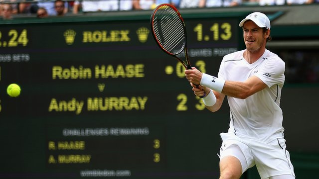 Andy Murray cruises into the third round at Wimbledon at the expense of Robin Haase