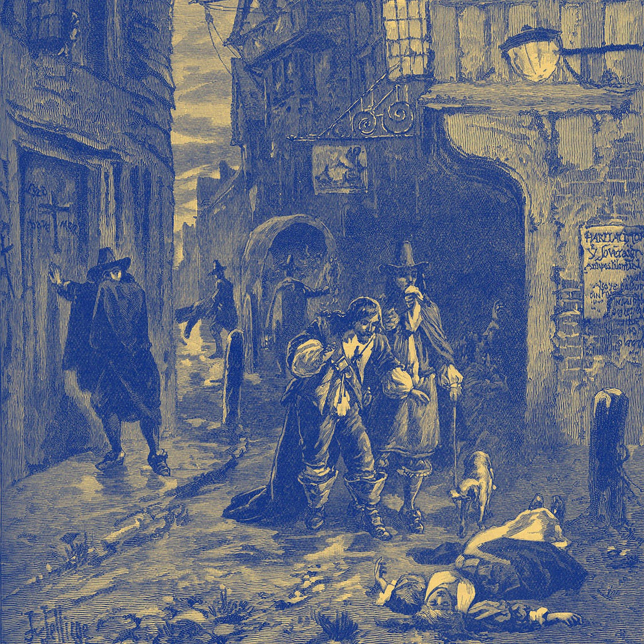 Grabado de la Gran Plaga de Londres