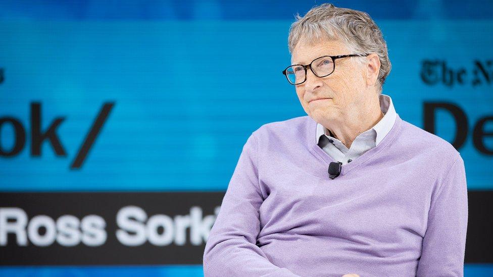 Bill Gates, Co-Chair, Bill ^ Melinda Gates Foundation speaks onstage at 2019 New York Times Dealbook