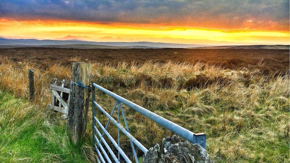 Sunset over Snowdonia