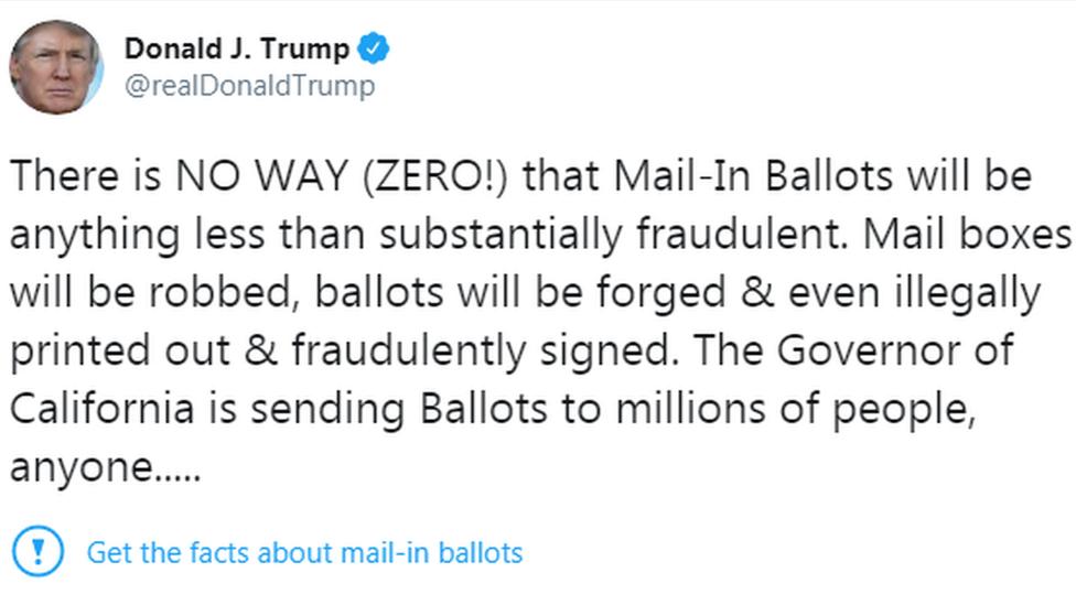Un tuit de Donald Trump