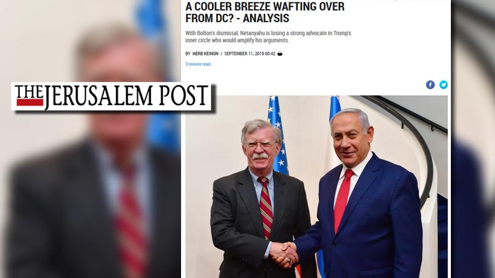 Screenshot from Jerusalem Post
