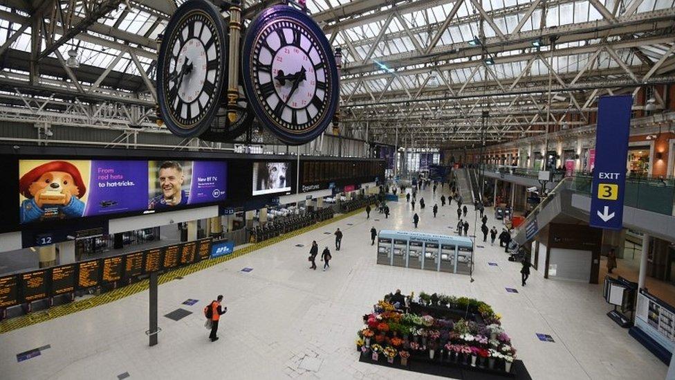Waterloo Station at rush hour