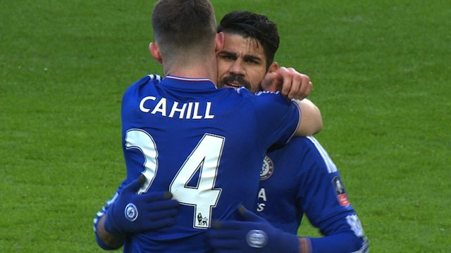 FA Cup: Diego Costa puts Chelsea ahead v Scunthorpe