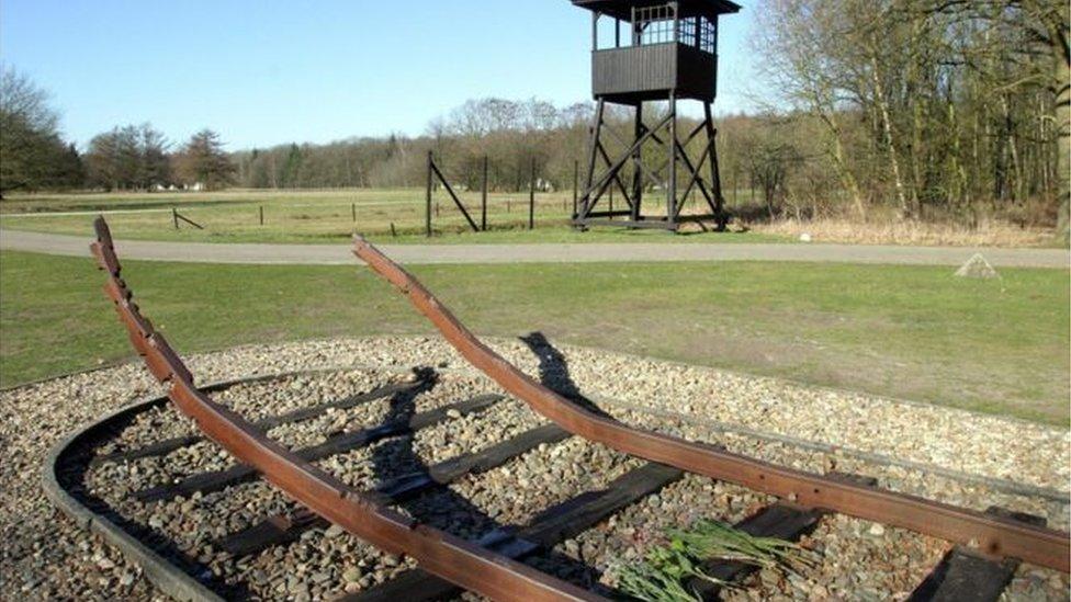 سكة حديدية قديمة في قرية ويستربورك في هولندا