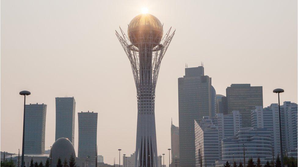 Baiterek Tower in the Kazakh capital