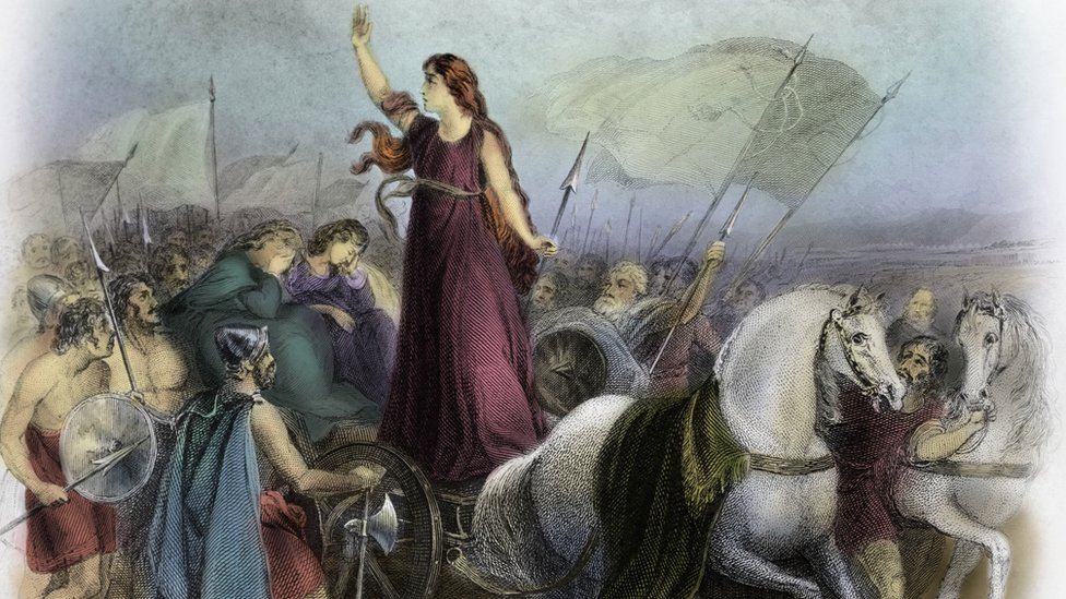 An artist impression of Boudica