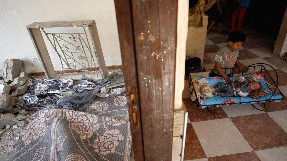 Gazze'de Filistinli çocuklar.